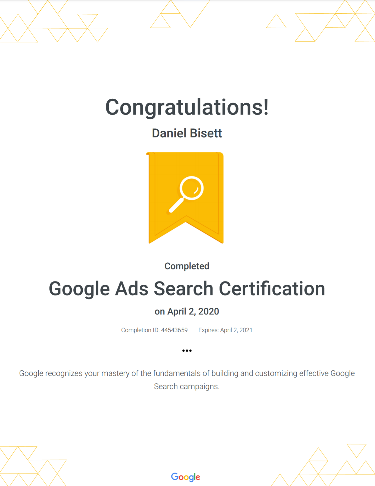 google-ads-search-certification